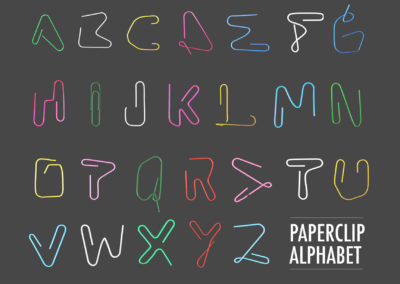 PAPERCLIP ALPHABET