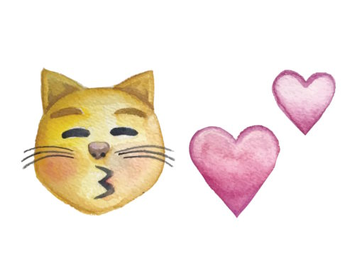 KITTY EMOJI KISSES
